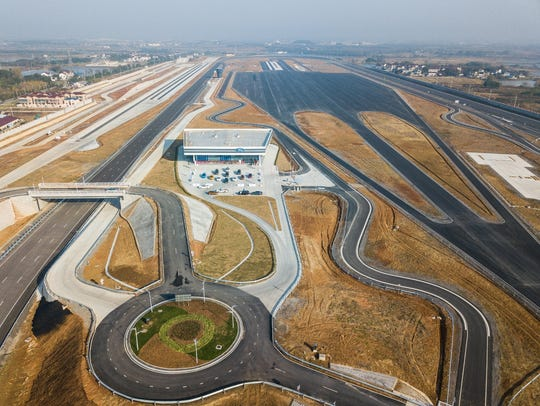 A birds-eye view of the newly-opened Nanjing Test Center,