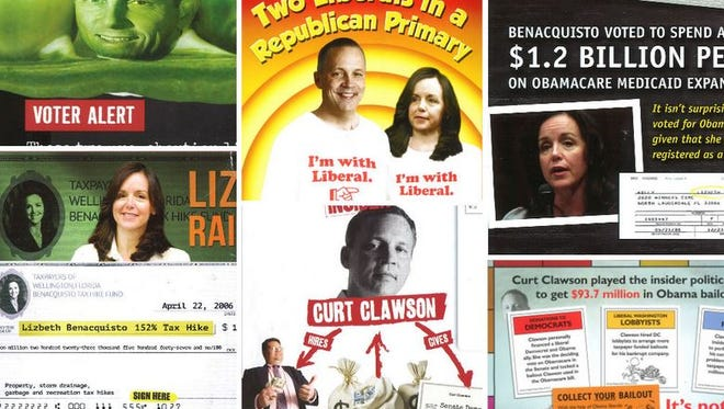 Campaign mailer ads.