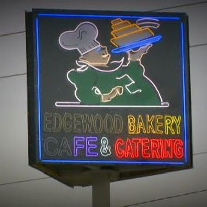 Sign of Murray Hill staple known as Edgewood Bakery