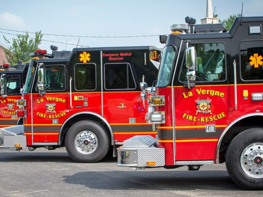 La Vergne Fire Department officials were called to Wood Automotive Repair Wednesday, Nov. 28, 2019 to respond to a worker trapped against a work bench.