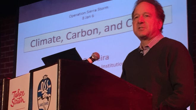 During a conference at Lake Tahoe climate scientist Ken Caldeira talks about the implications of rapid climate change for the Sierra Nevada and the entire planet.