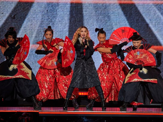 Madonna in concert at New York's Madison Square Garden