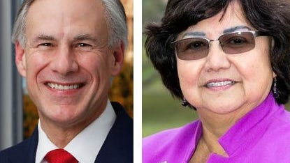 Greg Abbott and Lupe Valdez