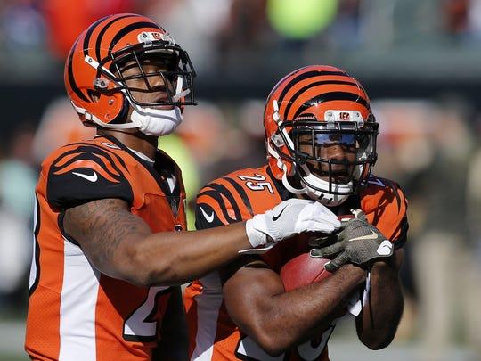 Cincinnati Bengals running back Joe Mixon (28) and