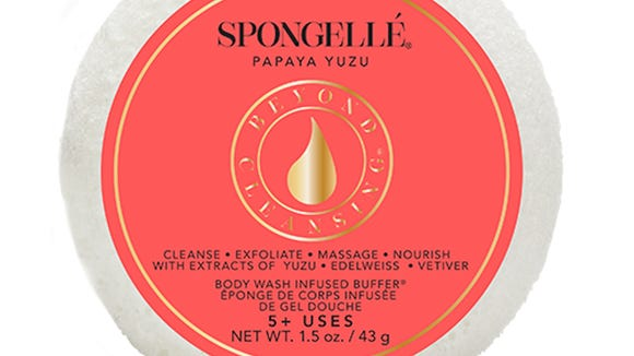 Spongellé Papaya Yuzu Spongetté $9.00 on www.Spongelle.com.