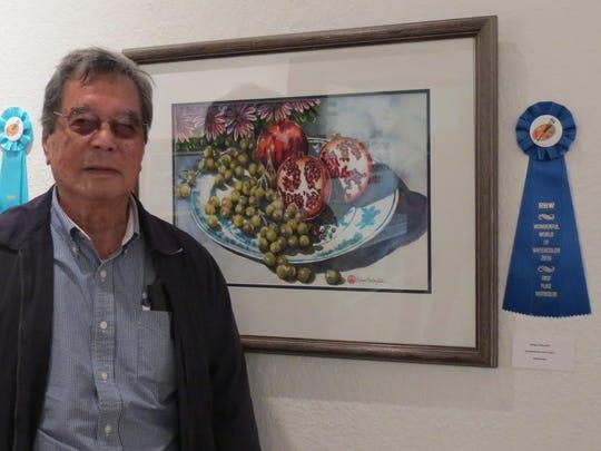 Kenge Kobayashi won first place in the watercolor division