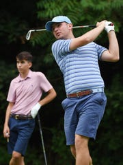 Ian Wilson of the Town of Poughkeepsie tees off during the second round of the 2017 Dutchess County Amateur at McCann Memorial Golf Course in Poughkeepsie.