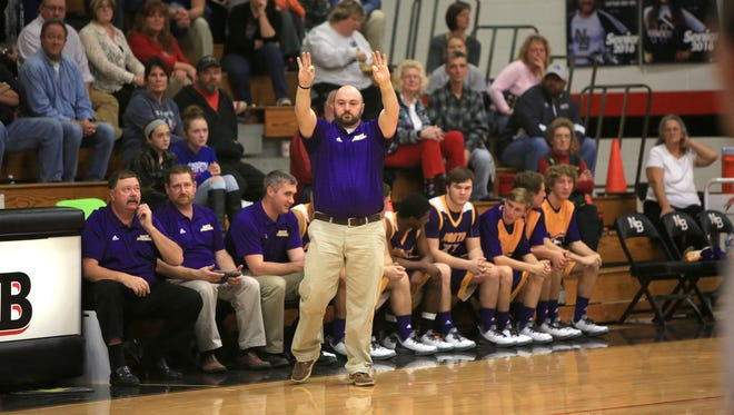 North Henderson coach Justin Parris and the Knights are 10-0 after Tuesday night's win at Franklin.
