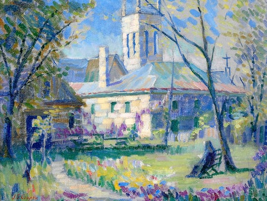 "Emma Josephine Sibley Couper's oil painting ""Episcopal"