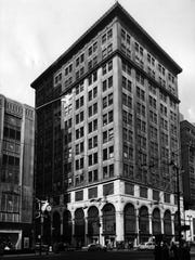 Rollman's department store was built at the northeast