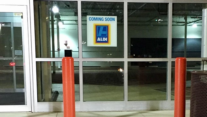 An Aldi sign is up in the former Circuit City space across from Target on Pine Island Road in Cape Coral.