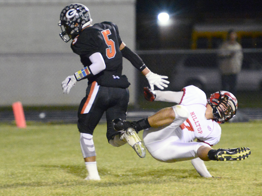 Gibsonburg's Mateo Flores, left, intercepted four passes in one game as a senior.