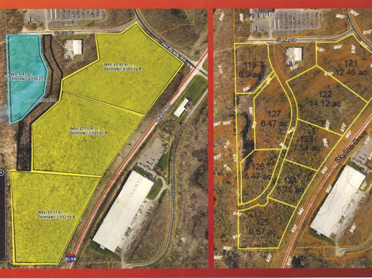 Three parcels of at least 20 acres in the Fort Custer