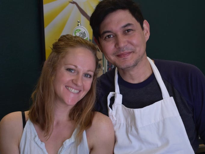 Brasserie Kayla Finck and Richard Morris, owners of