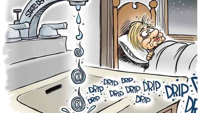 Hillary's emails cartoon by John Cole