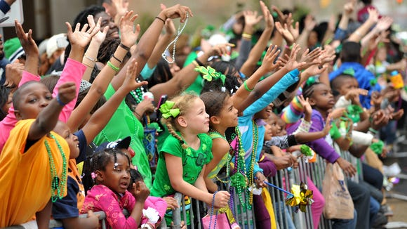The weather was beautiful for the 2014 parade. This year, rain is in the forecast.