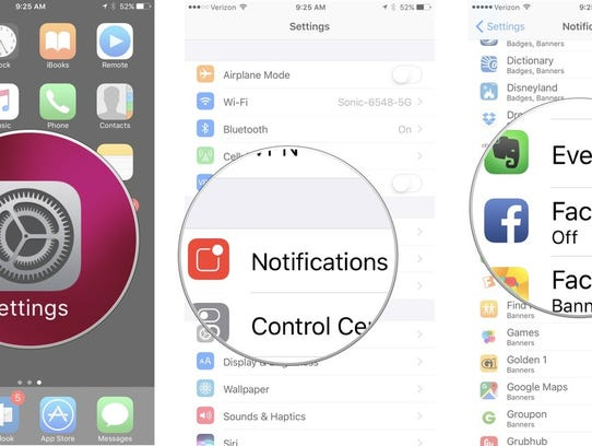 How to navigate through the notifications on your iOS