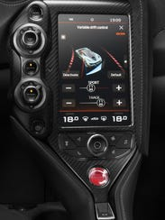 The McLaren 720S center screen provides drivers with