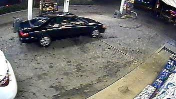 Surveillance footage showed the vehicle of the alleged armed robber.