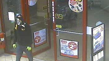 Surveillance footage shows a suspect walking in to the Circle K at Highway 29 on Sept. 12.