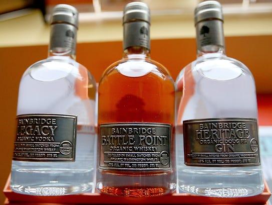 Bottles of Bainbridge Legacy Vodka, Bainbridge Battle