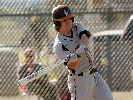 Central Kitsap's Tristan Barr and the Cougars scored eight runs in the seventh inning during last week's playoff win over Bonney Lake.