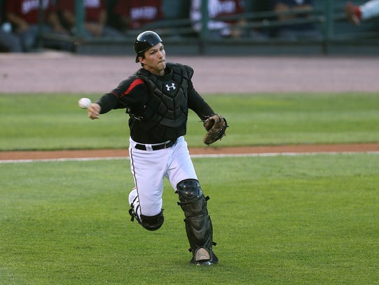 As the Red Wings catcher, John Ryan Murphy has been