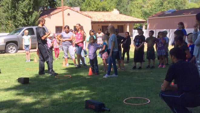 The Tularosa Public Library 2016 Summer Reading Program is in full swing. David Overstreet, of Overstreet TaeKwonDo Academy, gives an exciting and informative demonstration to 52 students and parents. For more information about the Tularosa Public Library Summer Reading Program call 585-2711.