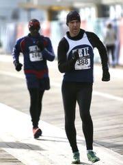The co-featured 10-mile racewalk saw John Soucheck