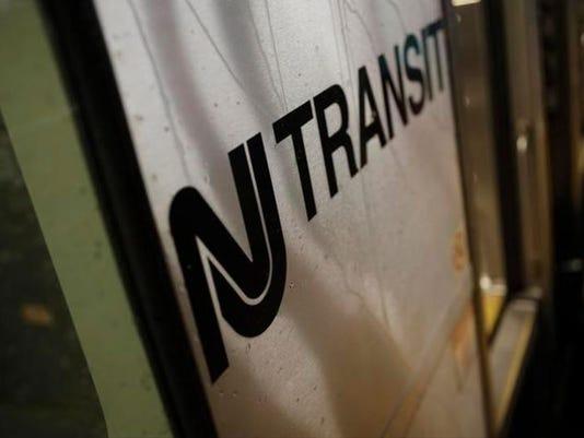 NJ Transit train sign