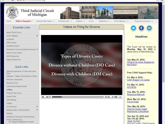 Wayne court video takes mystery out of filing for divorce divorcevideowebsite solutioingenieria Images