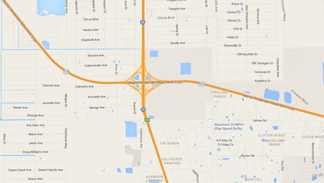 A crash is blocking northbound lanes of 1-95 near the SR-528 exit.