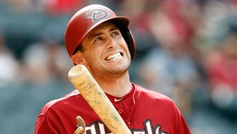 The Diamondbacks' Paul Goldschmidt reacts after being called out on strikes against the Washington Nationals in the eighth inning on Wednesday, May 13, 2015, at Chase Field in Phoenix.
