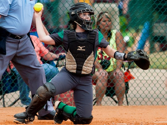 Brantley's Kassidy Wilcox during the AHSAA Softball