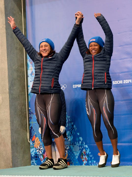 2014-2-19 elana meyers lauryn williams 2