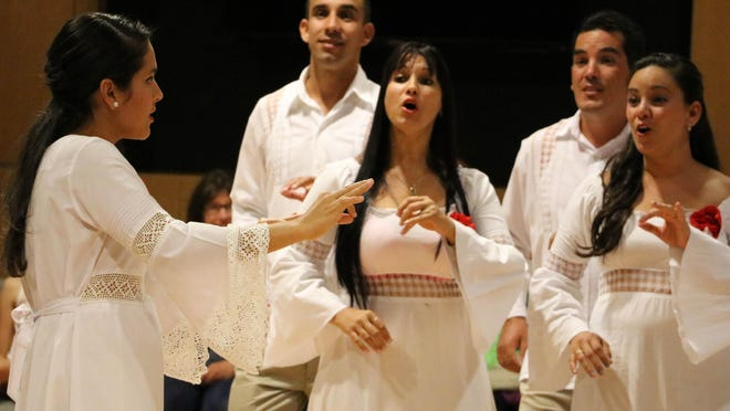 The Cantores de Cienfuegos, a choir from Cuba, performs Monday evening at Great Falls College Montana State University.