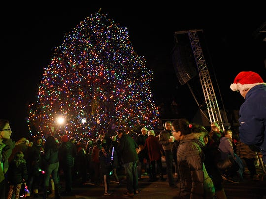 Ridgewood Christmas tree lighting on Dec. 1.