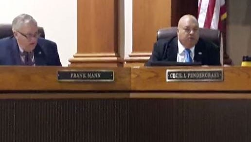 Lee County Commissioners Frank Mann, left, and Cecil Pendergrass were absent from a Board of County Commissioners meeting Tuesday. As a result, the meeting was canceled due to lack of a quorum. Pendergrass was in California for a tourism conference and Mann was due to return from a trip out of the country on Monday.