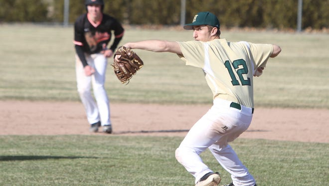 Howell's Jacob Falzone gave up one run in four innings of relief in a 10-6 victory over Brighton on Wednesday, April 11, 2018.
