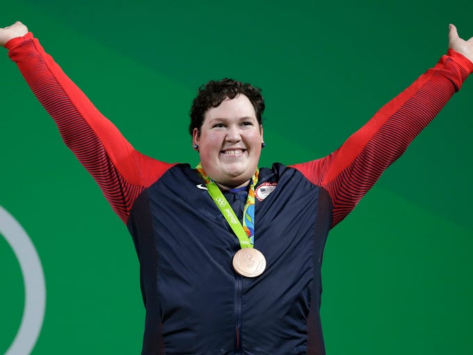 Bronze medalist Sarah Elizabeth Robles, of the United