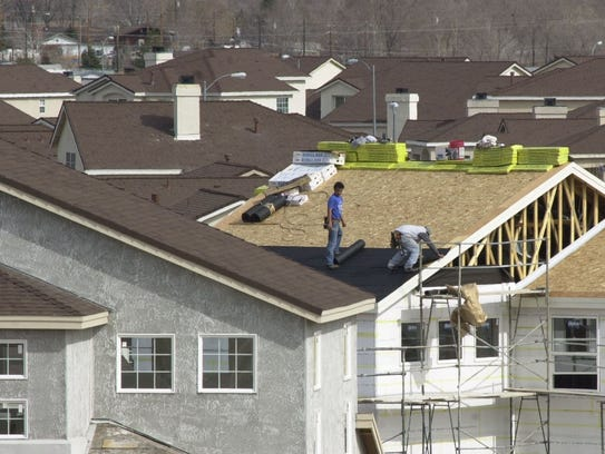 Homes are shown being constructed in NorthRidge, a