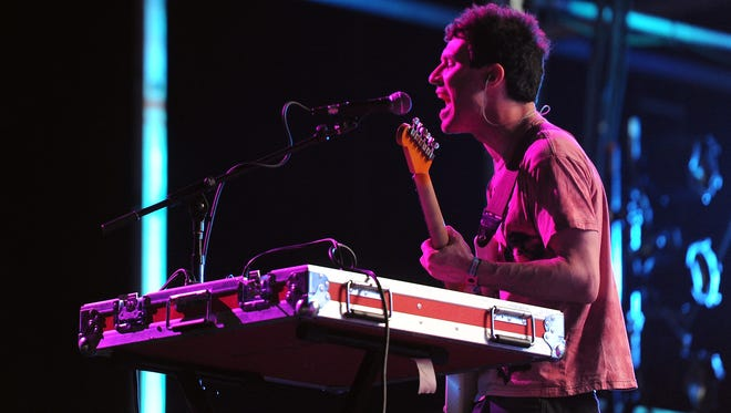 Animal Collective performs at the Coachella Valley Music & Arts Festival in 2011.