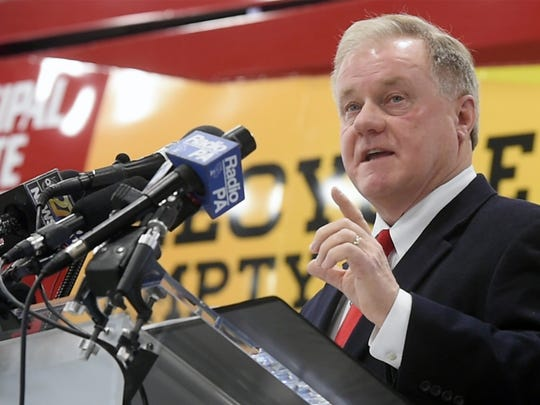 State Sen. Scott Wagner kicked off his campaign for governor at his York County waste and recycling business, Penn Waste Inc., in East Manchester Township.