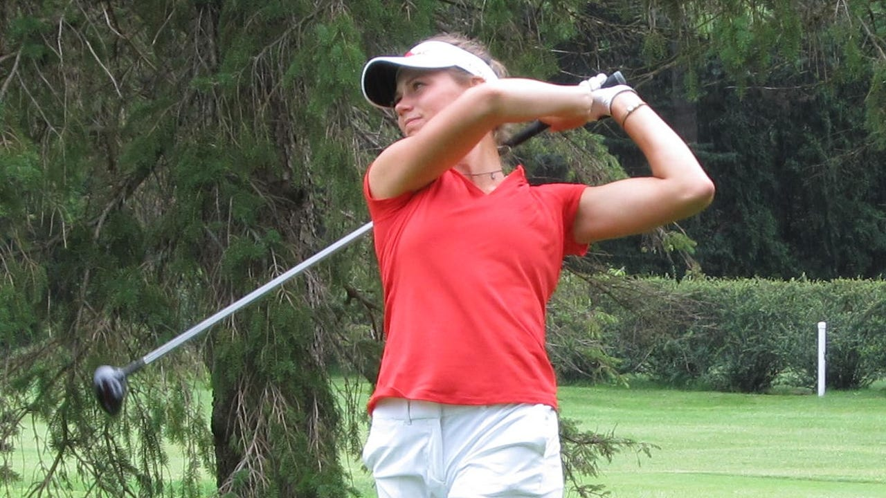 Julia Dean of Brighton won in 20 holes over Veronica Haque of Rochester Hills in the first round of match play at the Michigan Women's Amateur Championship at Saginaw Country Club. She talks about how last year's semifinal experience helps this year.