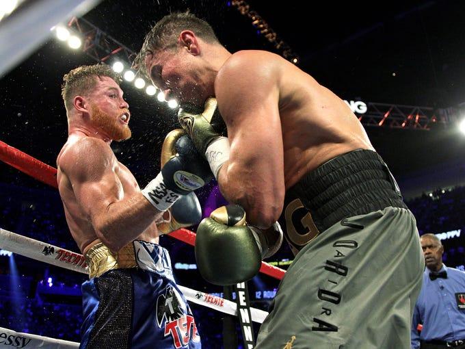 Imágenes de la pelea Canelo vs. Golovkin celebrada