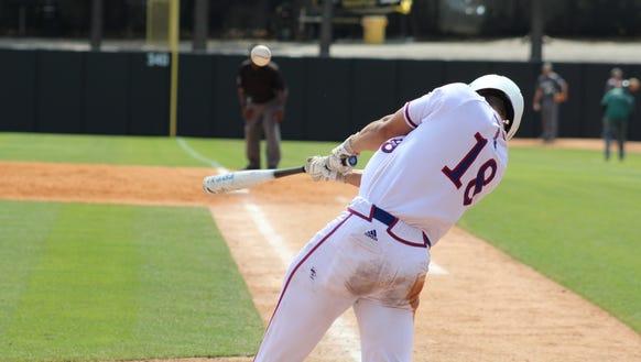 Louisiana Tech catcher Brent Diaz went 2-for-2 in Thursday's