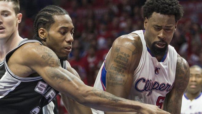 The Clippers' DeAndre Jordan (Ed Crisostomo/The Orange County Register via AP)