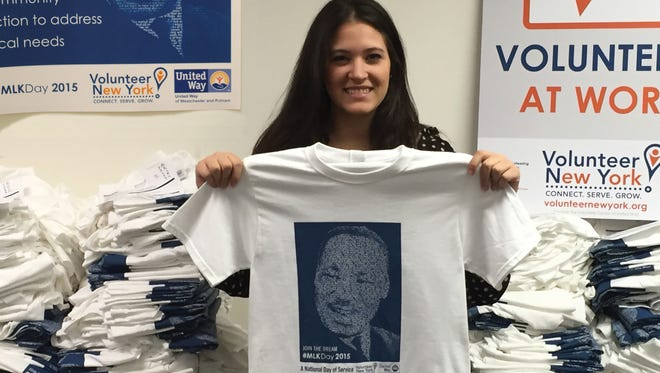 """Adrianna DiNapoli, a 22-year-old from West Harrison, volunteers with Volunteer New York! twice a week. She said she got into voluteering to network, meet new people, acquire new skills and """"and obviously to help other people."""""""