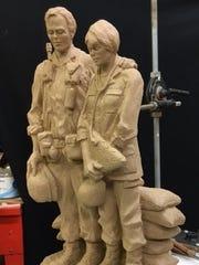 Sculptor Garland Weeks, himself a Vietnam War veteran, will create a full-size bronze memorial to Vietnam veterans from this model.