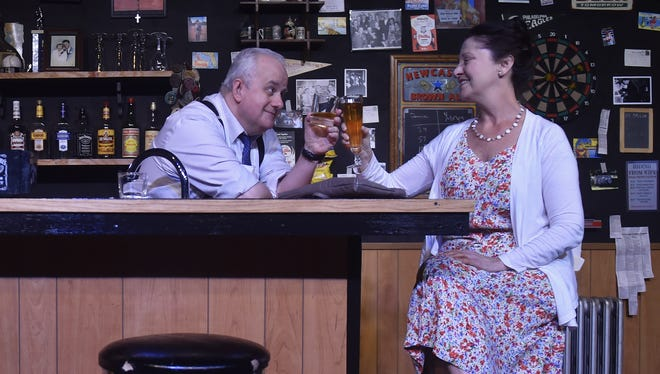 """Claire Morkin and Drew Brhel star in the Third Avenue Playhouse production of the Bruce Graham play """"Stella and Lou,"""" running from May 10 through June 3 with a pay-what-you-can benefit preview May 9."""